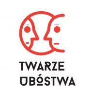 """Logotyp konkursu dla dziennikarzy """"Twarze Ubóstwa"""". Narysowany kontur profilu twarzy odbijającej się w lustrze."""