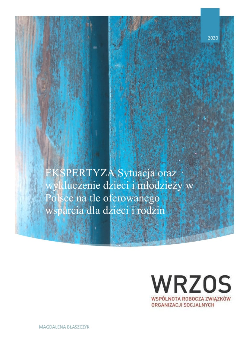 """Ekspertyza """"Sytuacja oraz wykluczenie dzieci i młodzieży w Polsce na tle oferowanego wsparcia dla dzieci i rodzin"""""""