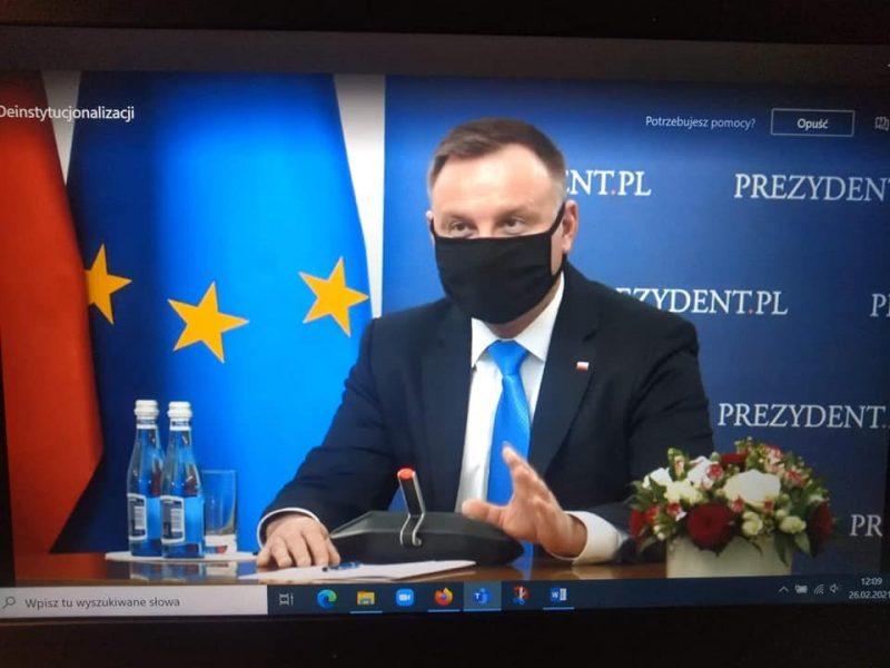 Prezydent RP Andrzej Duda podczas Forum Deinstytucjonalizacji
